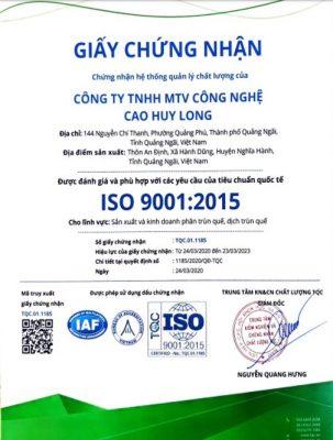 phân trùn quế đạt tiêu chuẩn iso 9001: 2015